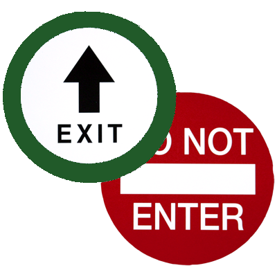 CE-710 Exit / Do Not Enter Decal