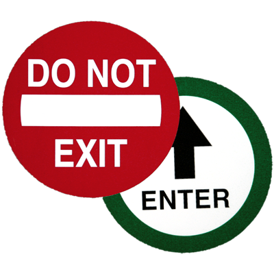 CE-713 Do Not Exit / Enter Decal