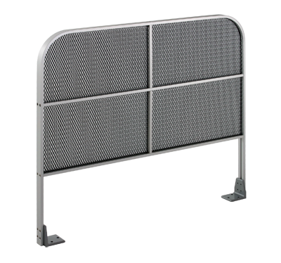 CE-808-U Double Curve - Mesh Panel - Aluminum Guide Rail