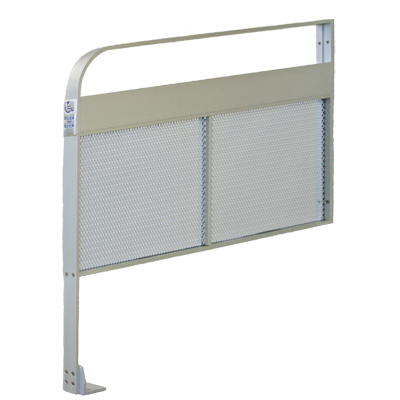 CE-810-E-615 Narrow Push Plate - Mesh Panel - Aluminum Guide Rail