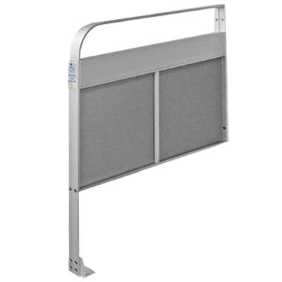 CE-810-P-615 Narrow Push Plate - Textured Poly Panel - Aluminum Guide Rail