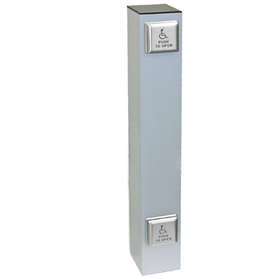 "CE-916-D 6"" Square Bollard Double Push Plates - Bollards & Post Systems"